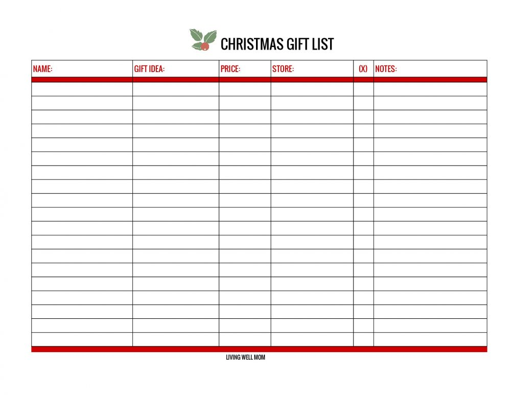 With both printable and online versions, this free Christmas Gift List will help you stay organized and save money as you track ideas, spending, notes, and easily see what's left to buy.