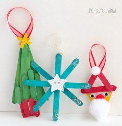 Simple Popsicle Stick Ornaments