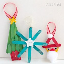 Kids can make these adorable popsicle stick ornaments for grandparents, parents, or just for fun this Christmas!