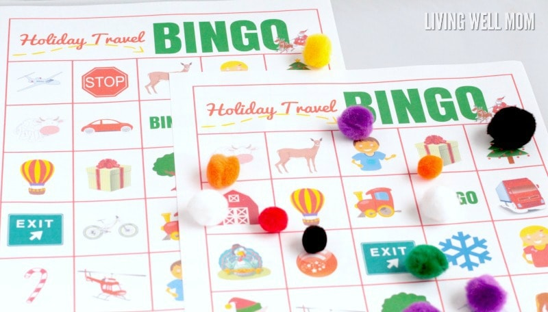 Say no to backseat bickering during holiday travels with this super-fun holiday travel bingo game! This free printable bingo game is suitable for all ages.