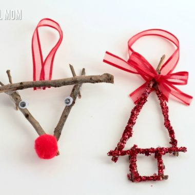 Give your Christmas a little vintage kick with these stick ornaments! These handmade ornaments bring a delightful rustic flair to Christmas celebrations.