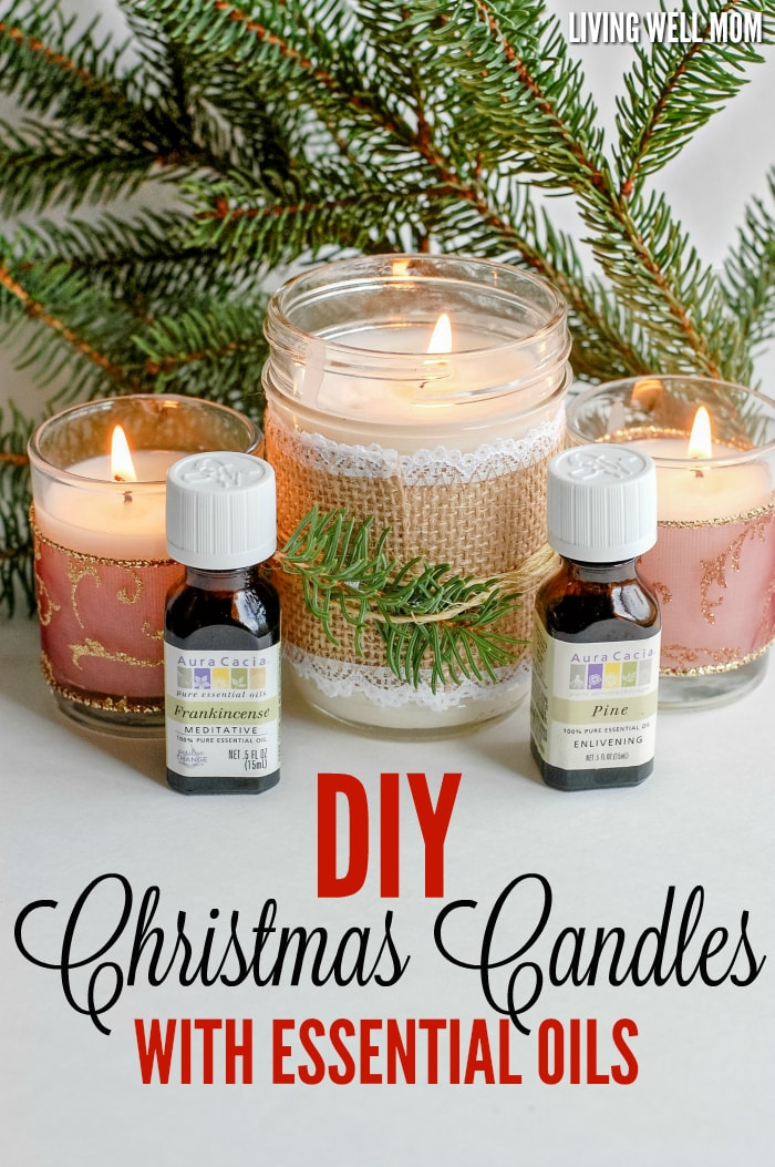 Diy christmas candles with essential oils for How to make christmas candle holders