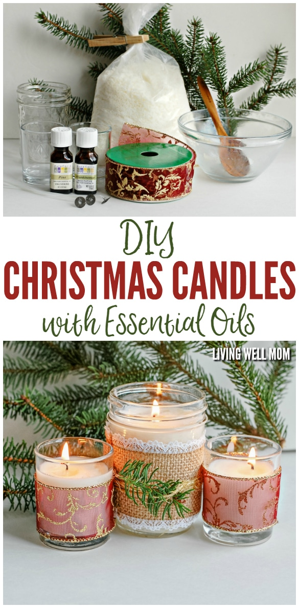 Diy christmas candles with essential oils for Christmas candle gift ideas