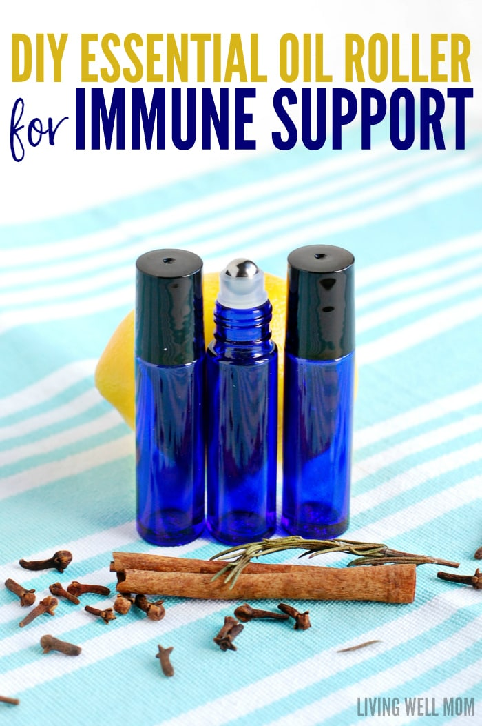 essential oil roller bottles with immune support blend
