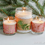 DIY Christmas Candles with Essential Oils