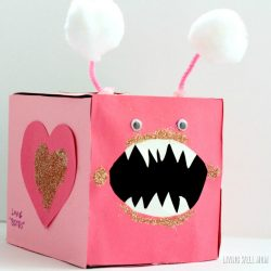 """Love Bites"" Valentine Card Box"