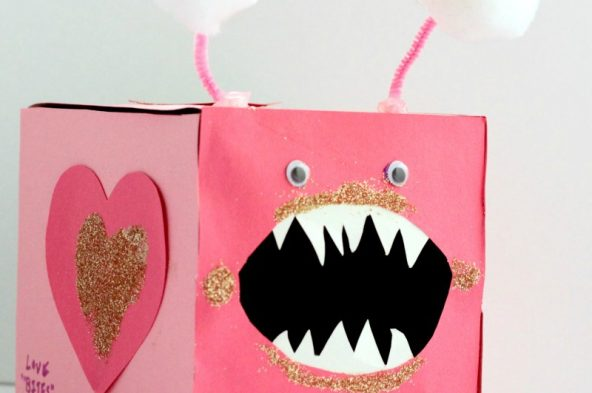 """Kids (and even some adults!) will go nuts over this punny """"love bites"""" Valentine treat holder. A safe place to store all your Valentine goodies!"""