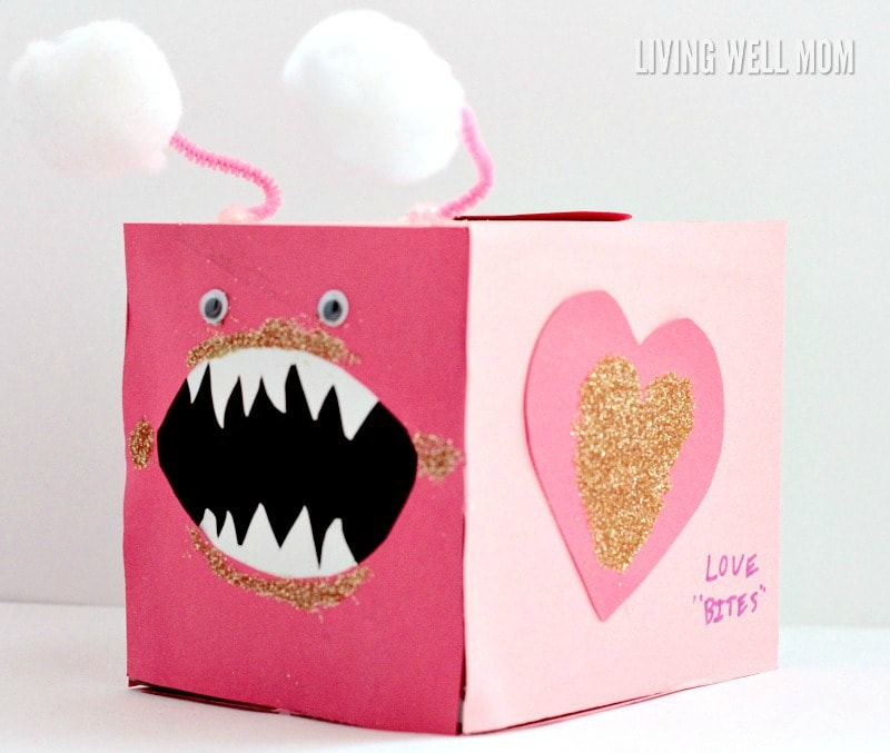 Love Bites Valentine Card Box