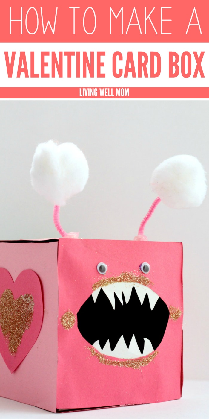 "This cute ""Love Bites"" Valentine Card Box is a fun craft for kids AND a great place to store their Valentine's Day cards!"