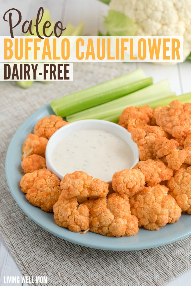 With coconut oil and dairy-free ingredients, Paleo Buffalo Cauliflower is a mouthwatering snack and appetizer you can feel good about eating!