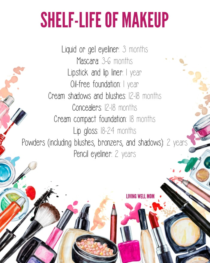 makeup expiration printable