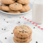 Dairy-free chocolate chip cookies so delicious, no one will guess they're gluten-free too! They're quick and easy to make and sweetened with coconut sugar; this favorite recipe gets two thumbs up from kids and adults alike!