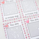 "Free Printable ""You're A-Maze-ing"" Valentines"