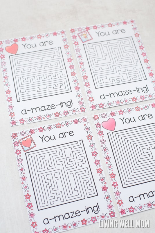 Free Printable You Re A Maze Ing Valentines