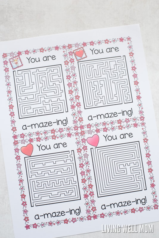 Download Your Free Printable U201cYouu0027re A Maze Ingu201d Valentine Here