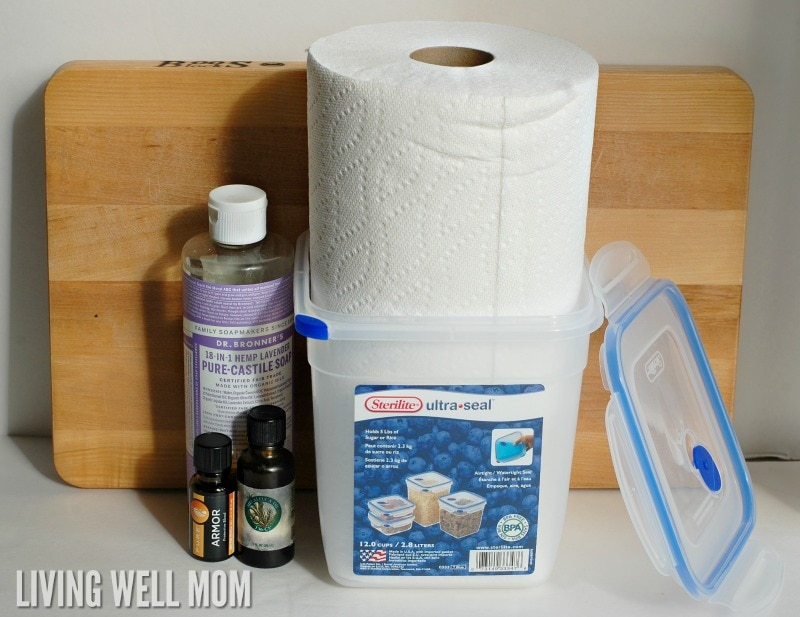 Natural Homemade Disinfectant Wipes With Essential Oils