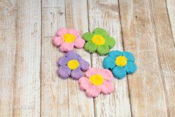 How to Make Salt Dough Flower Magnets