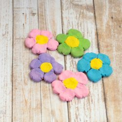 How to Make Salt Dough Flower Magnets