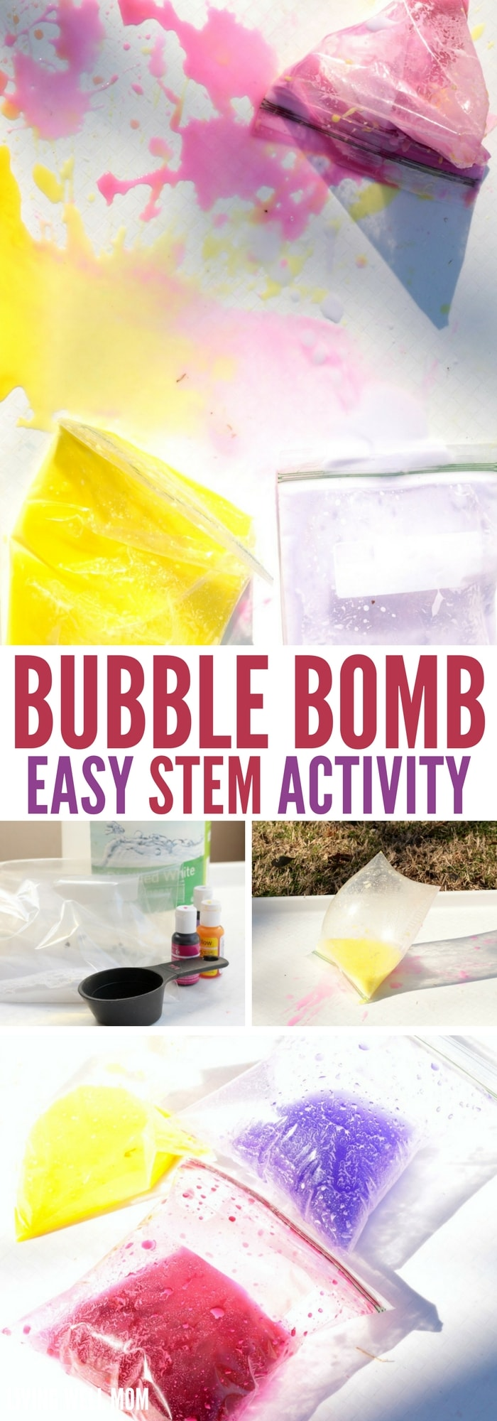 This fun STEM activity will delight kids of all ages. They'll love creating the simple and safe chemical reactions that cause these Bubble Bombs to explode!