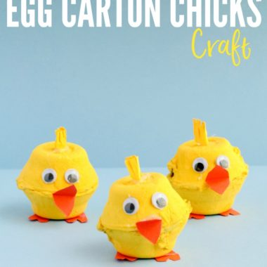 Egg Carton Chicks are perfect for springtime decorations or simply as a cute homemade toy for kids. (Just be careful not to let babies or toddlers get ahold of them; the eyes can be a chocking hazard!)