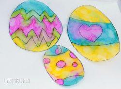 Tie-Dye Easter Egg Suncatchers