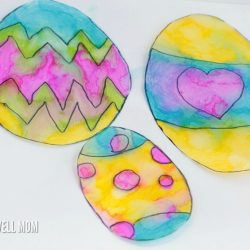Tie-Dye Easter Egg Suncatchers