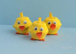 Easy and Adorable Egg Carton Chicks Craft