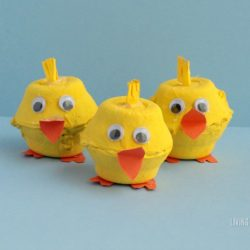 Easy and Adorable Egg Carton Chicks Craft
