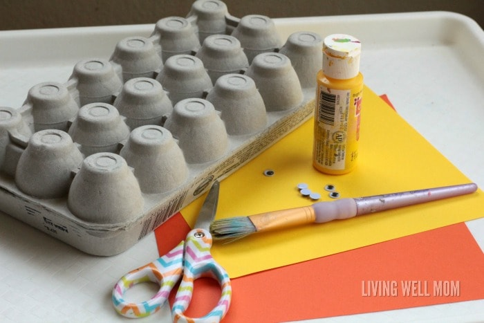 Egg Carton Chicks are cute Easter or springtime decorations or simply as a cute homemade toy for kids!