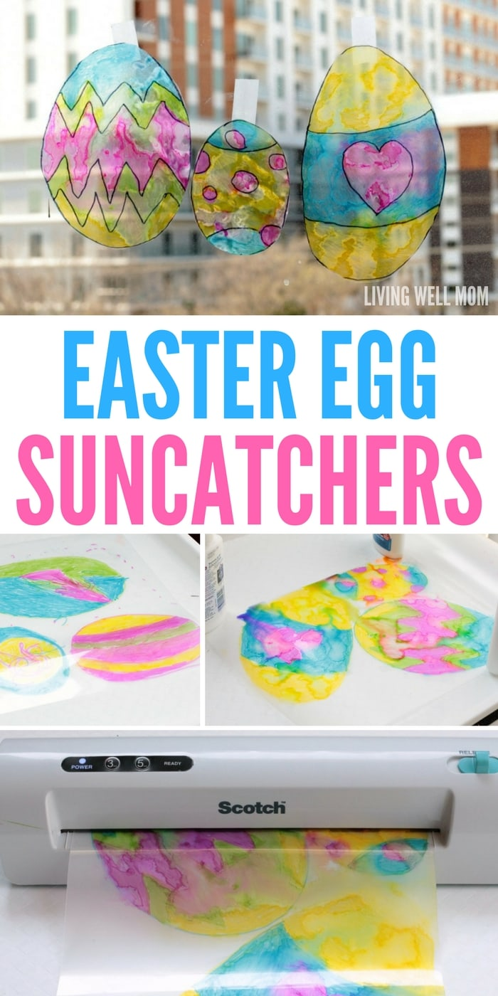 Easter Egg Suncatchers - this easy craft is fun for kids of all ages and a great homemade Easter decoration!