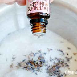 DIY Natural Lavender Milk Bath