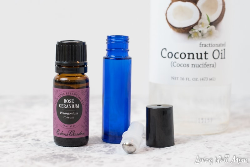 This DIY all-natural essential oil tick repellent roller blend is quick & easy to make and a great way to safely keep ticks away from your family.