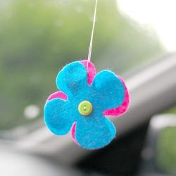 DIY Car Air Freshener with Essential Oils