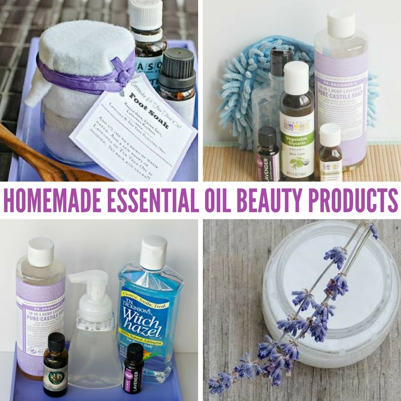 Homemade Essential Oil Beauty Products