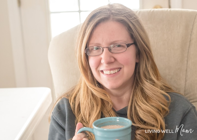 Erika Bragdon holding a cup of coffee