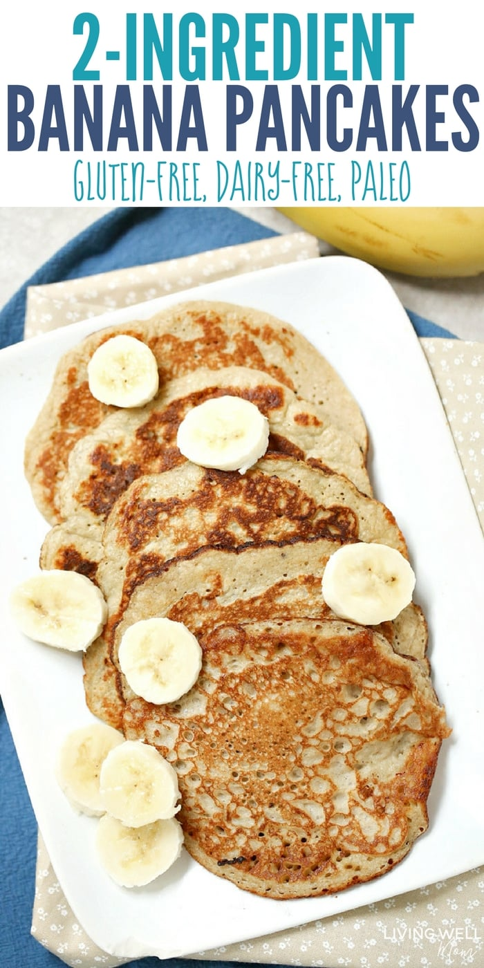 2 ingredient banana pancakes gluten free dairy free paleo with 2 eggs and 1 banana these quick and easy pancakes are naturally ccuart Gallery