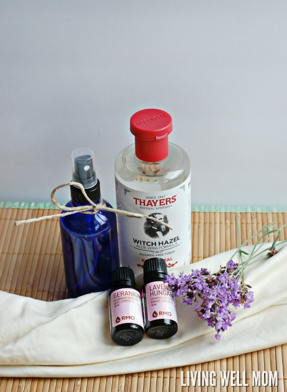 Ingredients for homemade spray