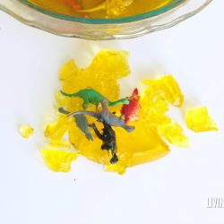 Jello Fossil Dig Sensory Activity