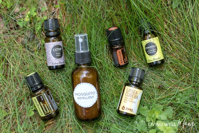 Say good-bye to mosquitoes with this all-natural homemade essential oil mosquito repellent recipe. There's two quick-and-easy-to-make versions- a spray and an essential oil roller blend. With citronella, lemongrass, catnip, and 2 more unique essential oils, this works great at naturally keeping mosquitoes at bay, even in wooded, buggy settings!
