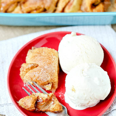This simple recipe for 6-ingredient apple dumplings is so easy to make, it's perfect for letting your kids help you bake. This apple dessert might become a fall favorite for your family just like it has for mine!