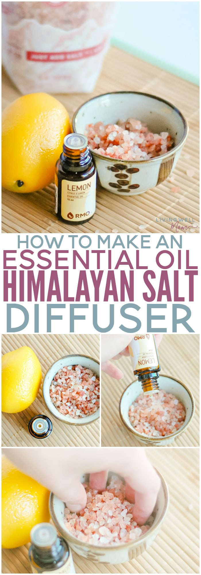 How to make a simple Himalayan Salt Diffuser - it's one of the easiest ways to diffuse essential oils, plus it can help purify the air in your home at the same time!