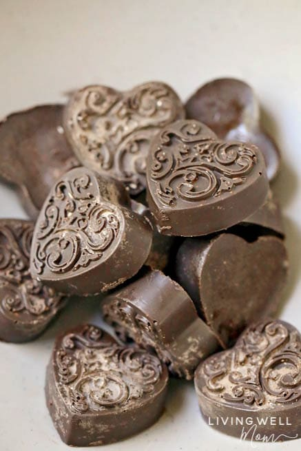 molded chocolate peppermint keto fat bombs