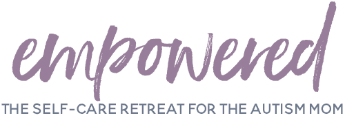 Empowered The Autism Mom Self-Care Retreat - EE Font Purple Gray