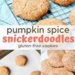 pumpkin spice snickerdoodles cookies