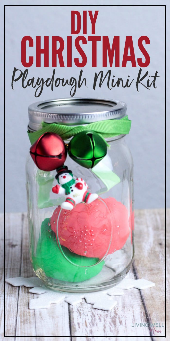 DIY Mini Christmas Playdough Kit - Living Well Mom