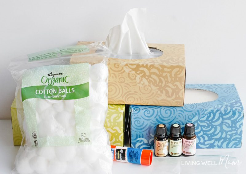 tissues cotton balls and essential oils for infused kleenex simple essential oil infused tissues are fast and easy to make and can help soothe and support - learn how to make them here. #essentialoils #stuffynose""