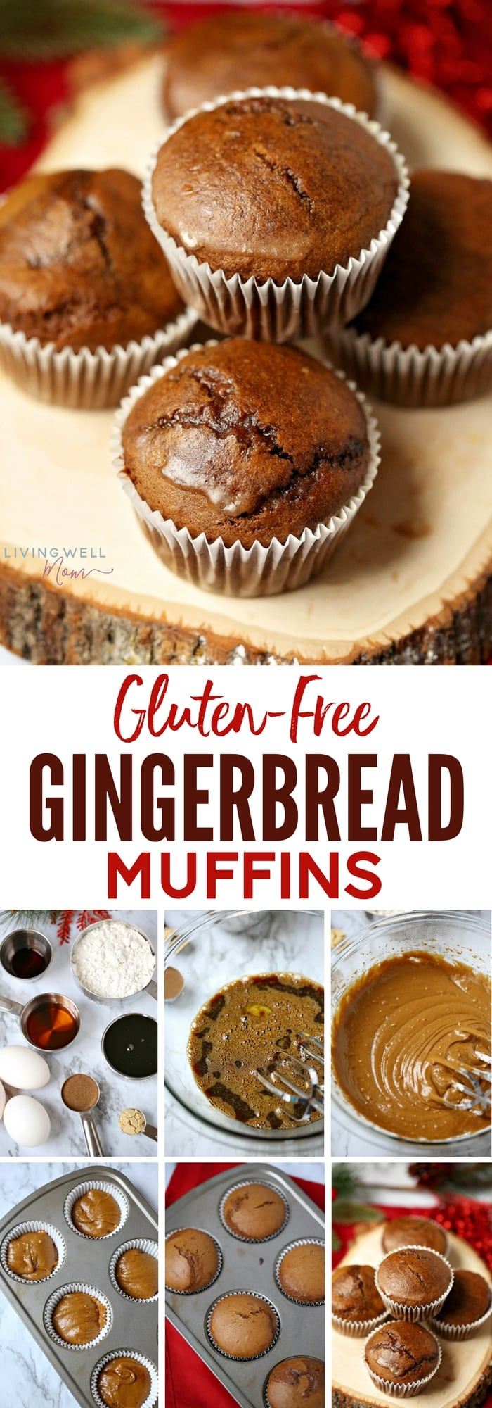 collection of photos - gluten-free gingerbread muffins