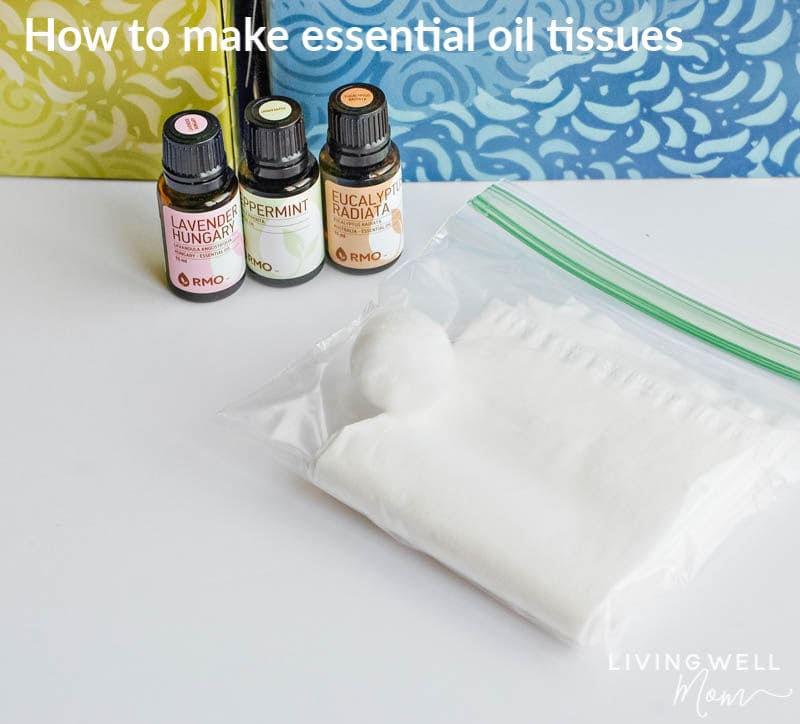 essential oils with infused tissue box and travel bag