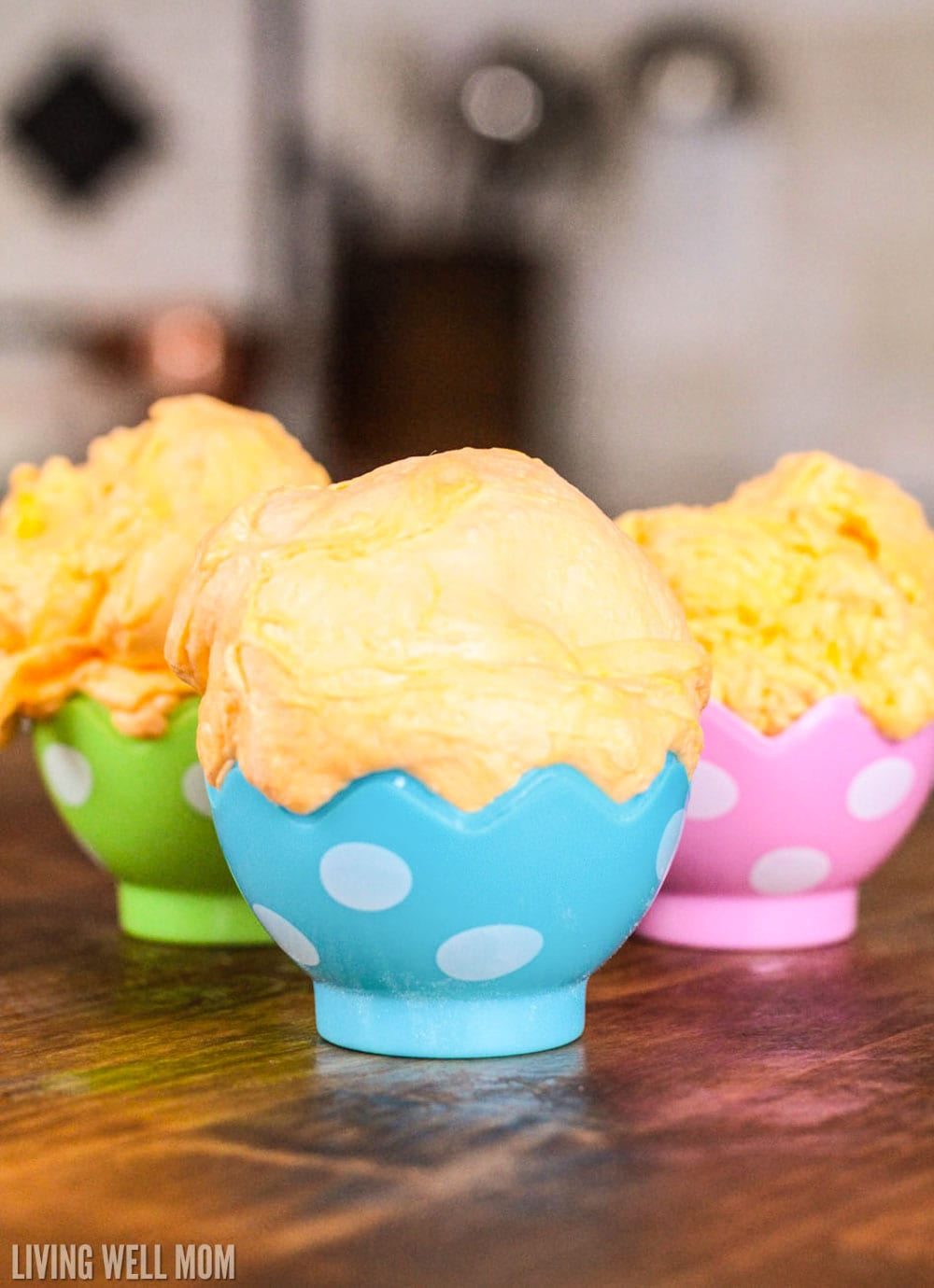 fluffy slime in Easter egg containters