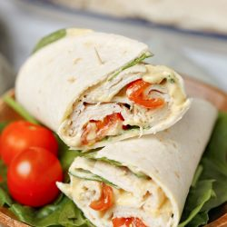 Healthy Spinach Turkey Wrap